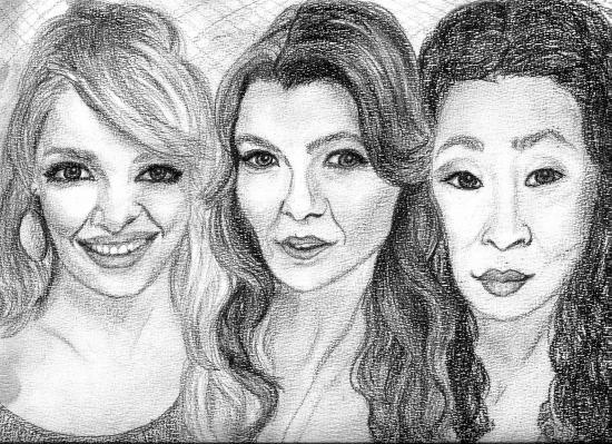 Katherine Heigl, Ellen Pompeo, Sandra Oh by Juls72